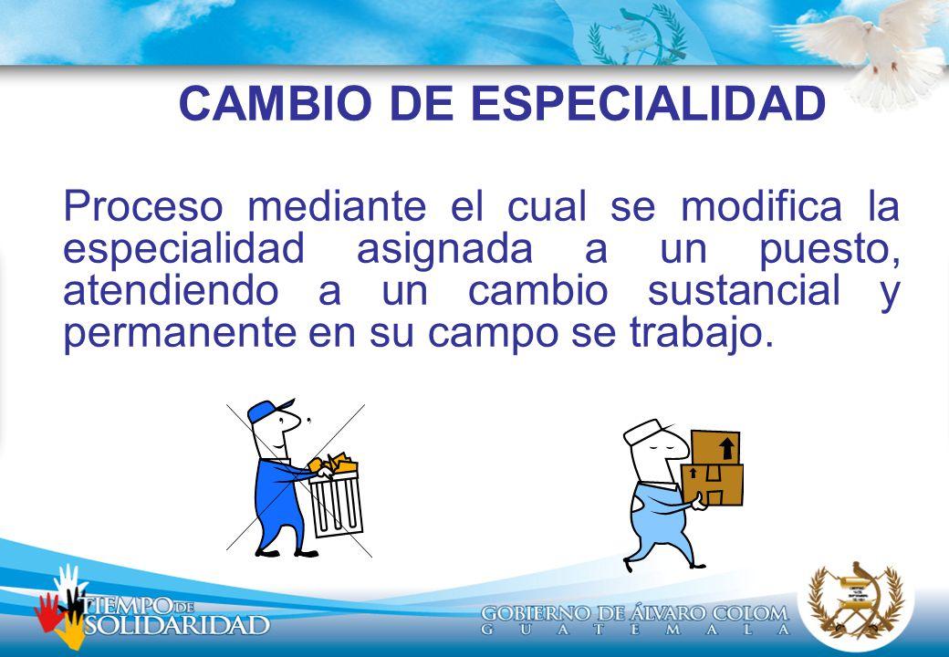 CAMBIO DE ESPECIALIDAD
