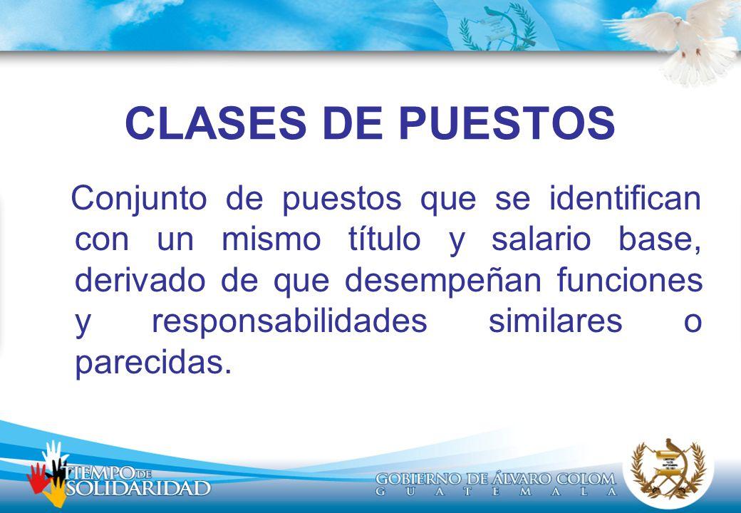 CLASES DE PUESTOS