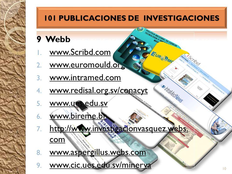 101 PUBLICACIONES DE INVESTIGACIONES