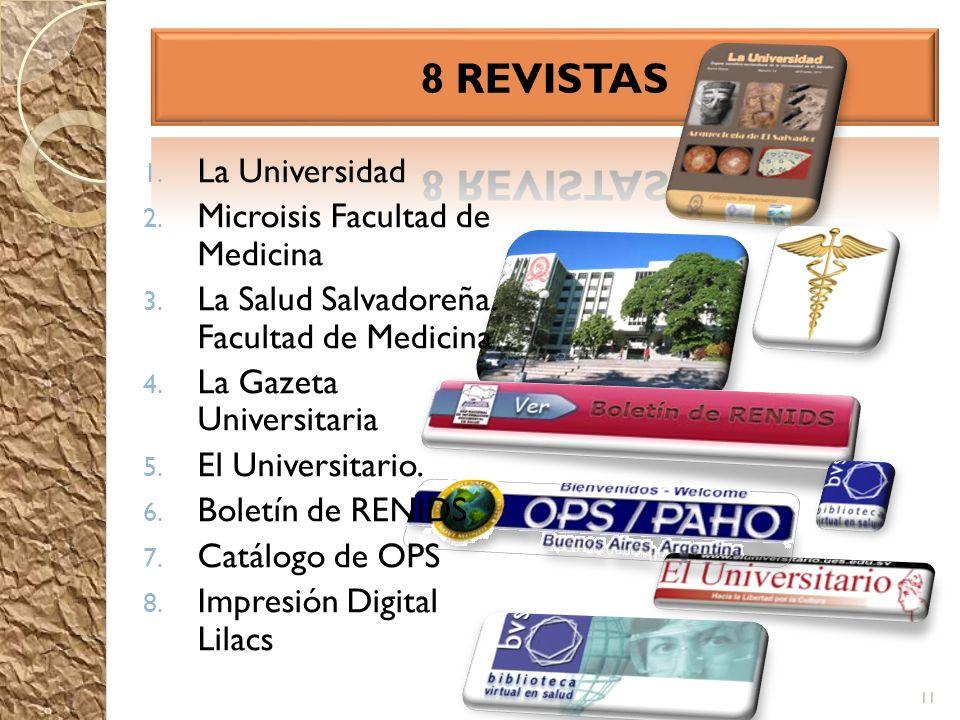 8 REVISTAS La Universidad Microisis Facultad de Medicina