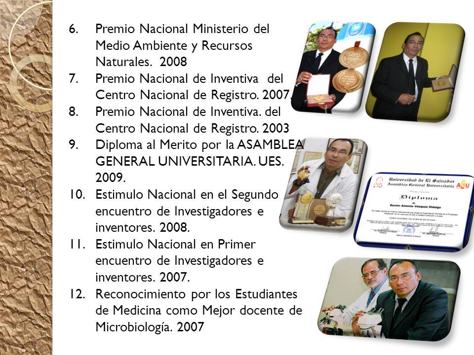 Premio Nacional Ministerio del Medio Ambiente y Recursos Naturales