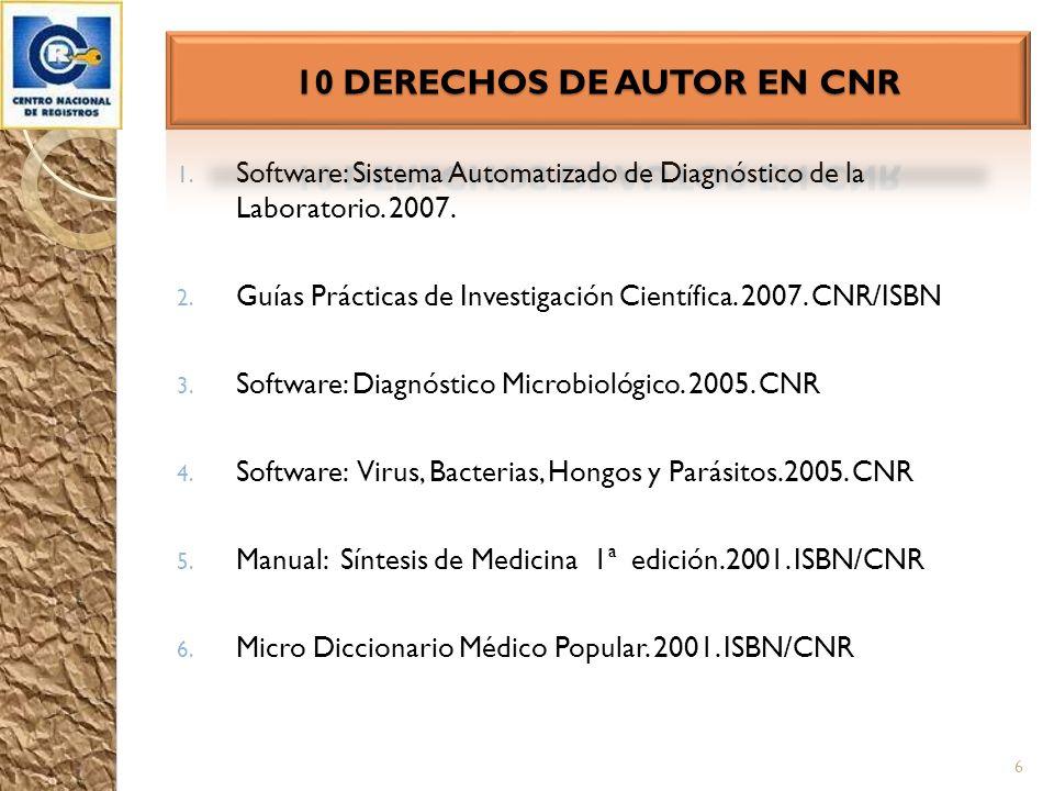 10 DERECHOS DE AUTOR EN CNR