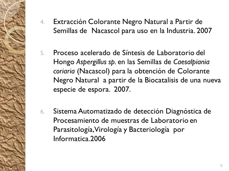 Extracción Colorante Negro Natural a Partir de Semillas de Nacascol para uso en la Industria. 2007