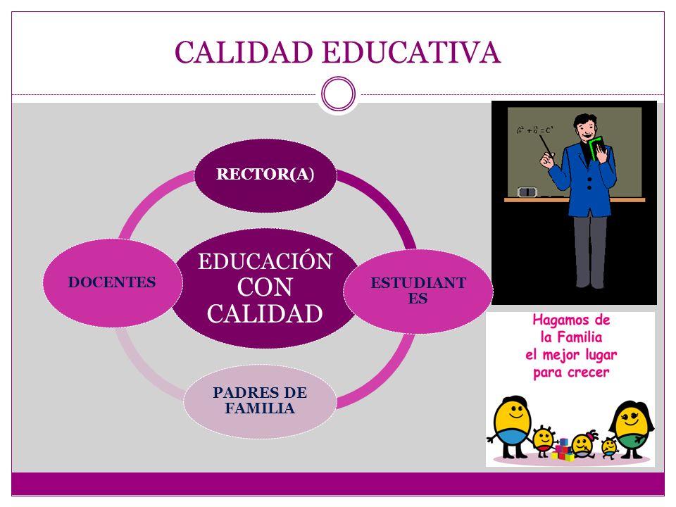CALIDAD EDUCATIVA EDUCACIÓN CON CALIDAD ESTUDIANTES PADRES DE FAMILIA