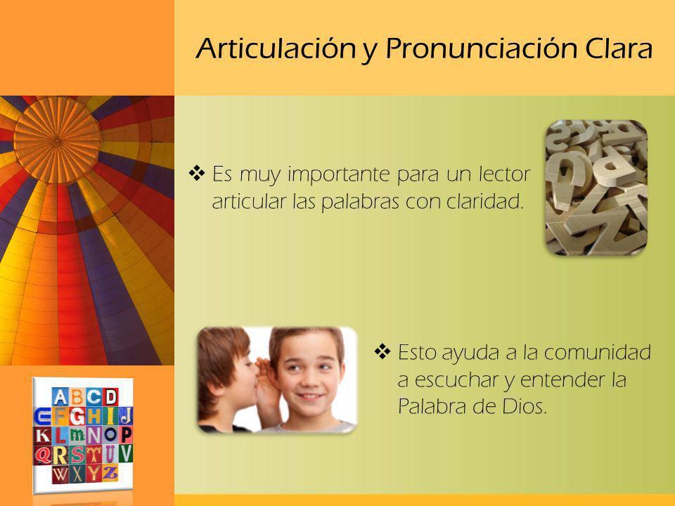 Articulación y Pronunciación Clara