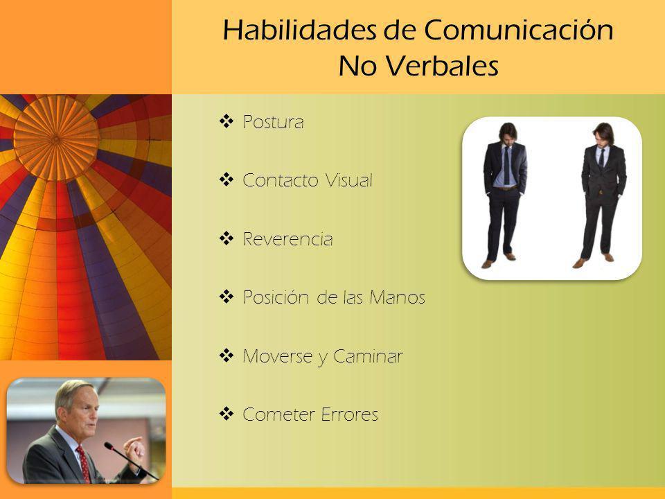 Habilidades de Comunicación No Verbales