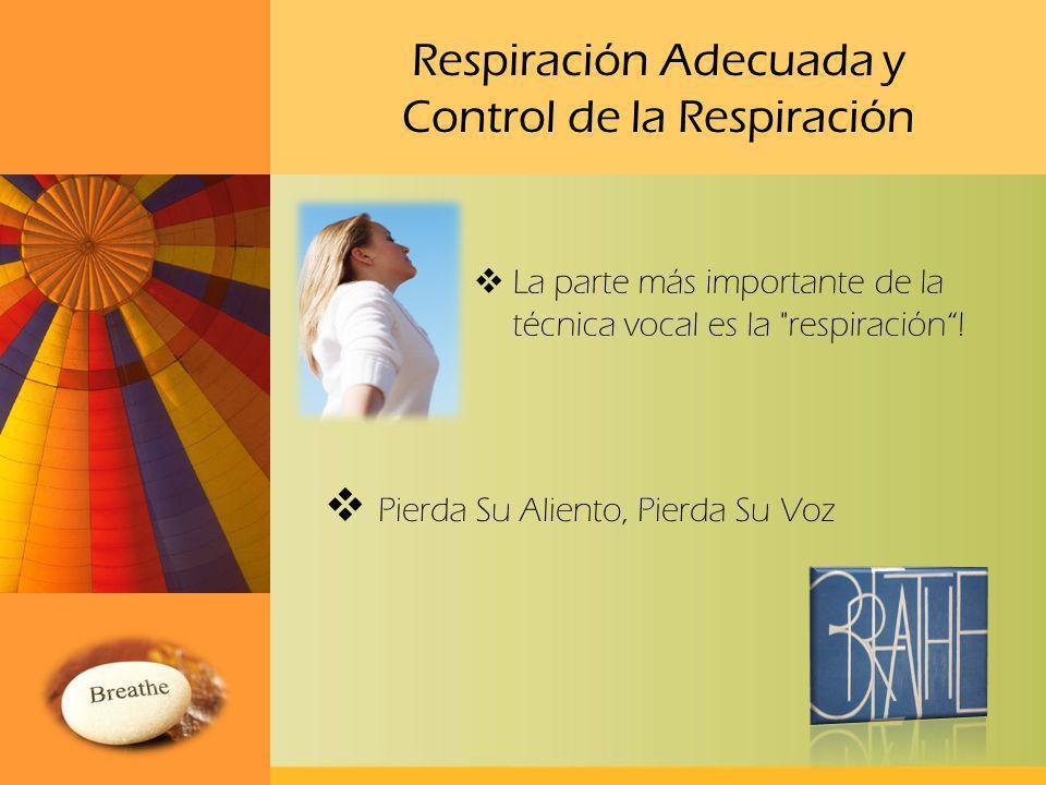 Respiración Adecuada y Control de la Respiración