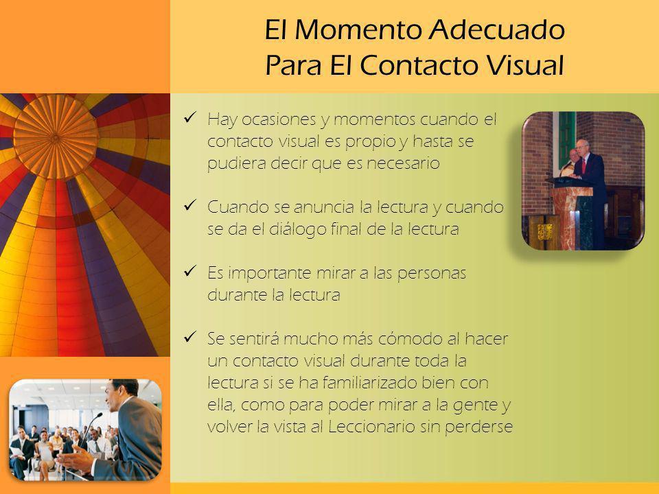 El Momento Adecuado Para El Contacto Visual