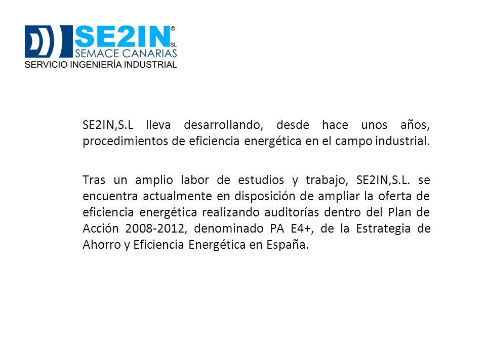 bnb SE2IN,S.L lleva desarrollando, desde hace unos años, procedimientos de eficiencia energética en el campo industrial.