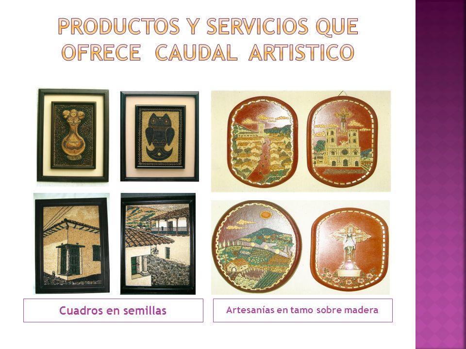 Productos y servicios que ofrece caudal artistico