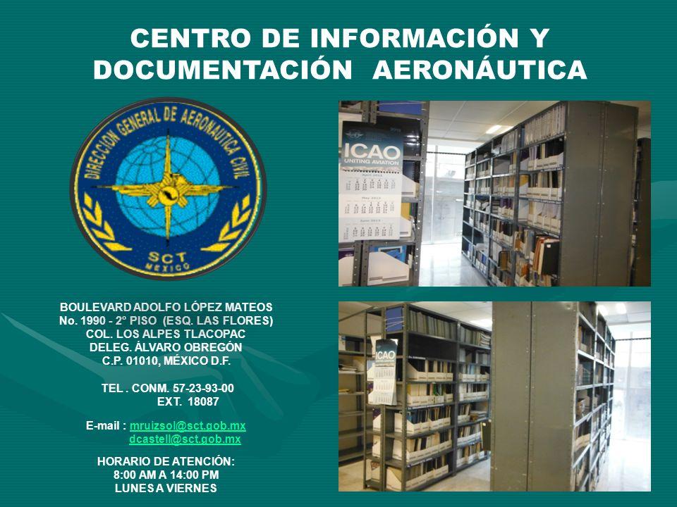 CENTRO DE INFORMACIÓN Y DOCUMENTACIÓN AERONÁUTICA