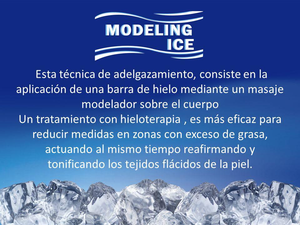 Esta técnica de adelgazamiento, consiste en la aplicación de una barra de hielo mediante un masaje modelador sobre el cuerpo