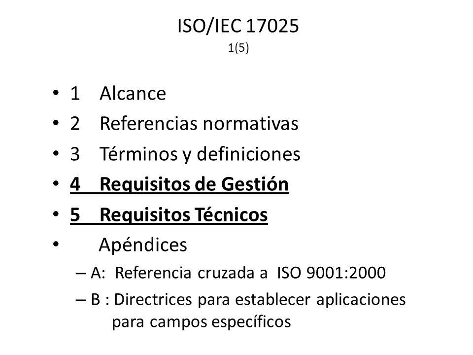 2 Referencias normativas 3 Términos y definiciones