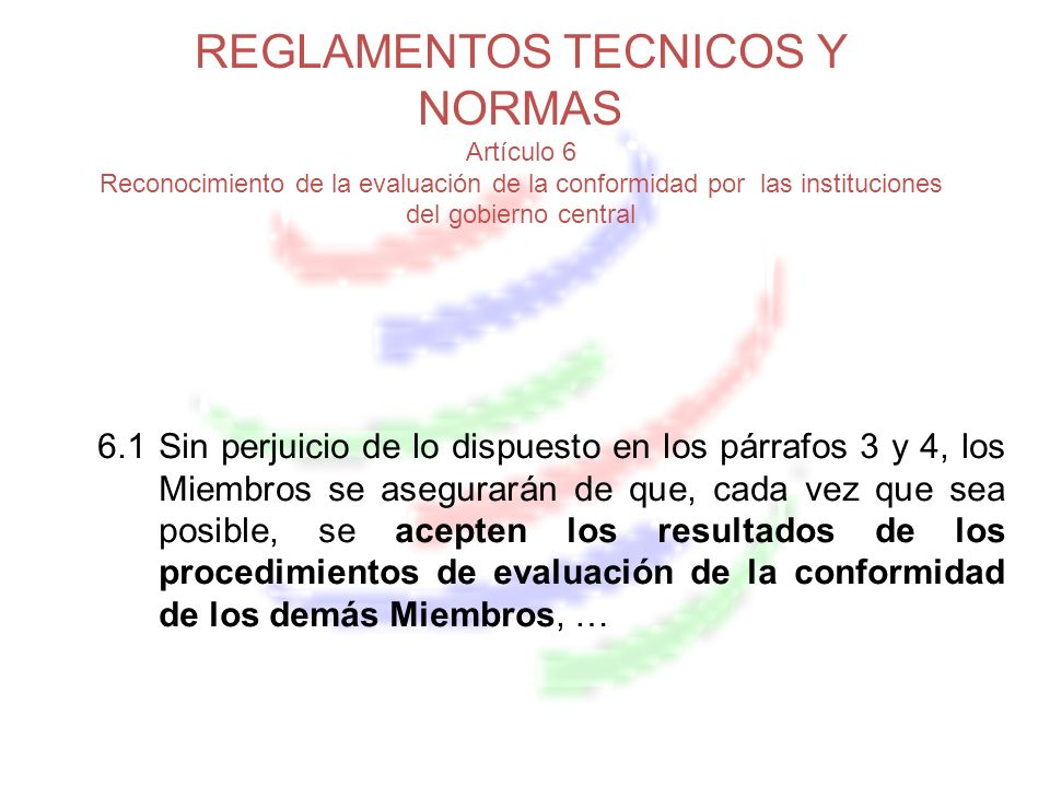 REGLAMENTOS TECNICOS Y NORMAS