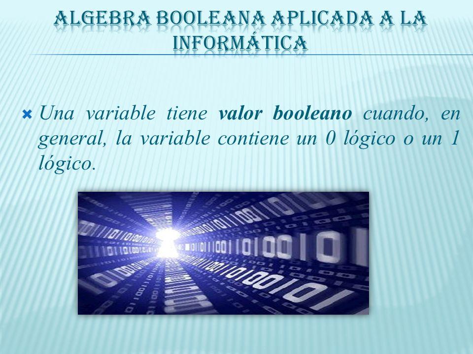 Algebra Booleana aplicada a la Informática
