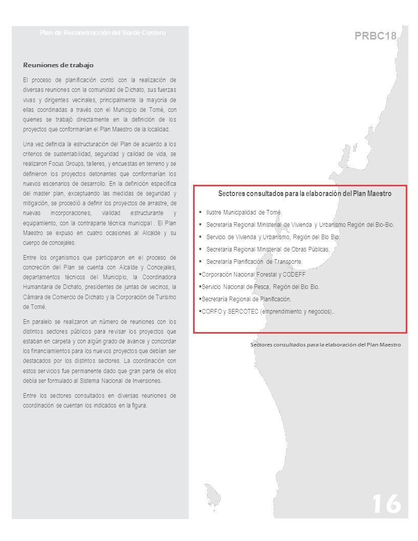 16 PRBC18 Sectores consultados para la elaboración del Plan Maestro