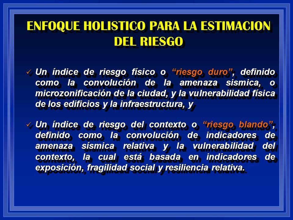ENFOQUE HOLISTICO PARA LA ESTIMACION DEL RIESGO