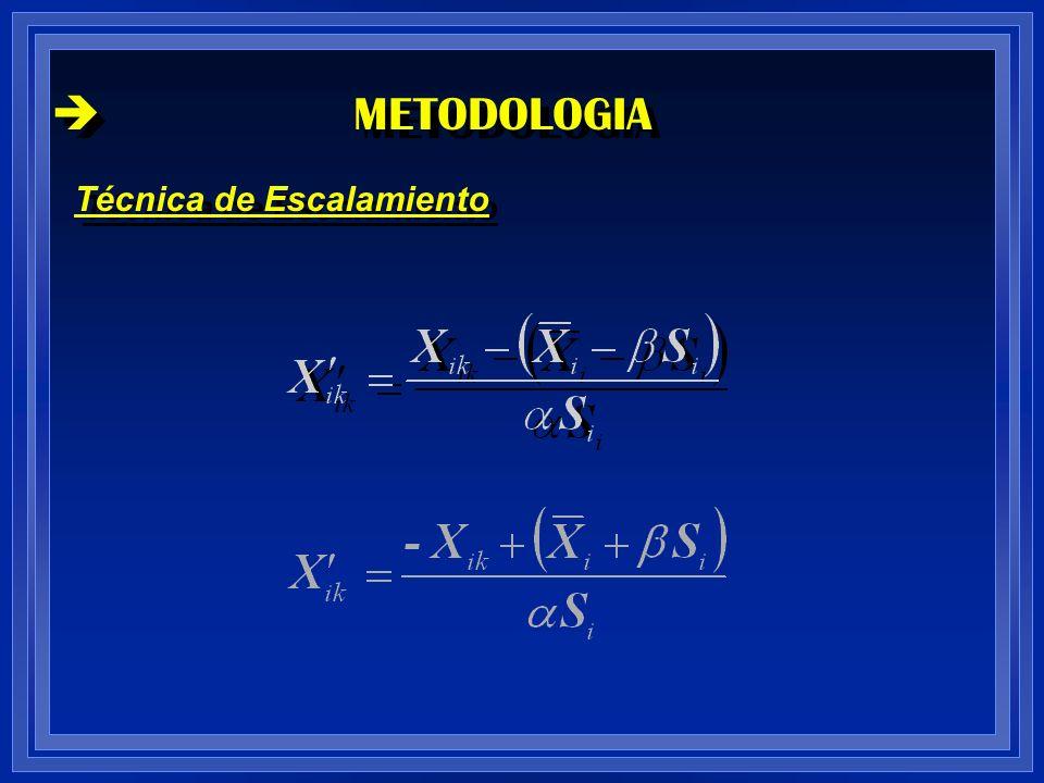 METODOLOGIA Técnica de Escalamiento