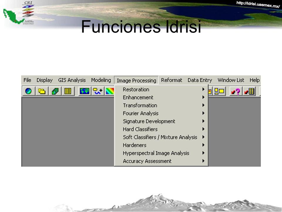 Funciones Idrisi