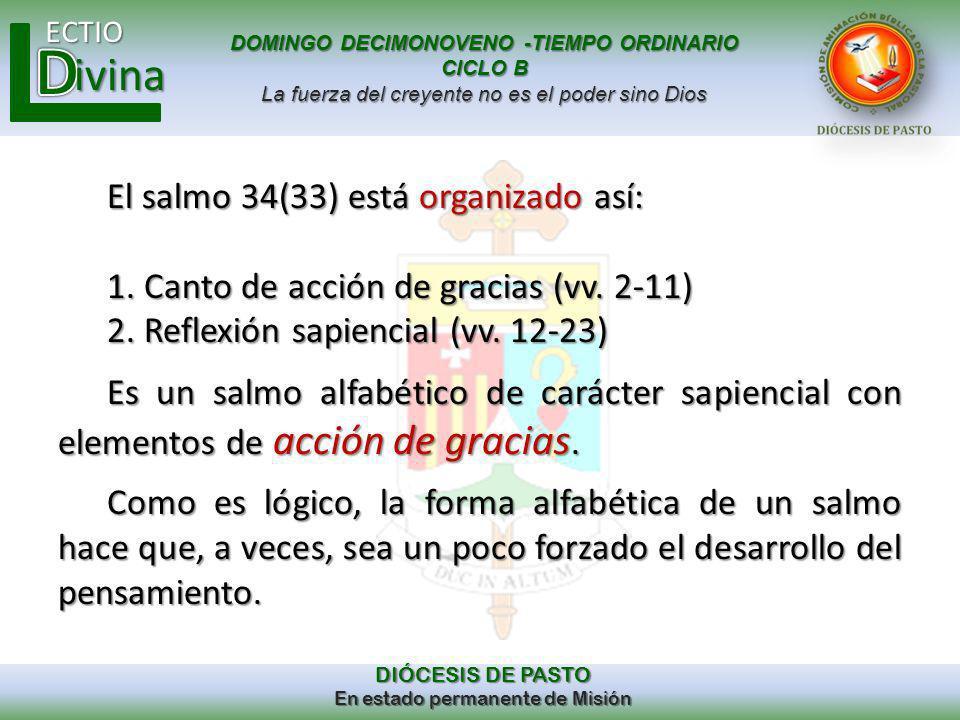 El salmo 34(33) está organizado así: