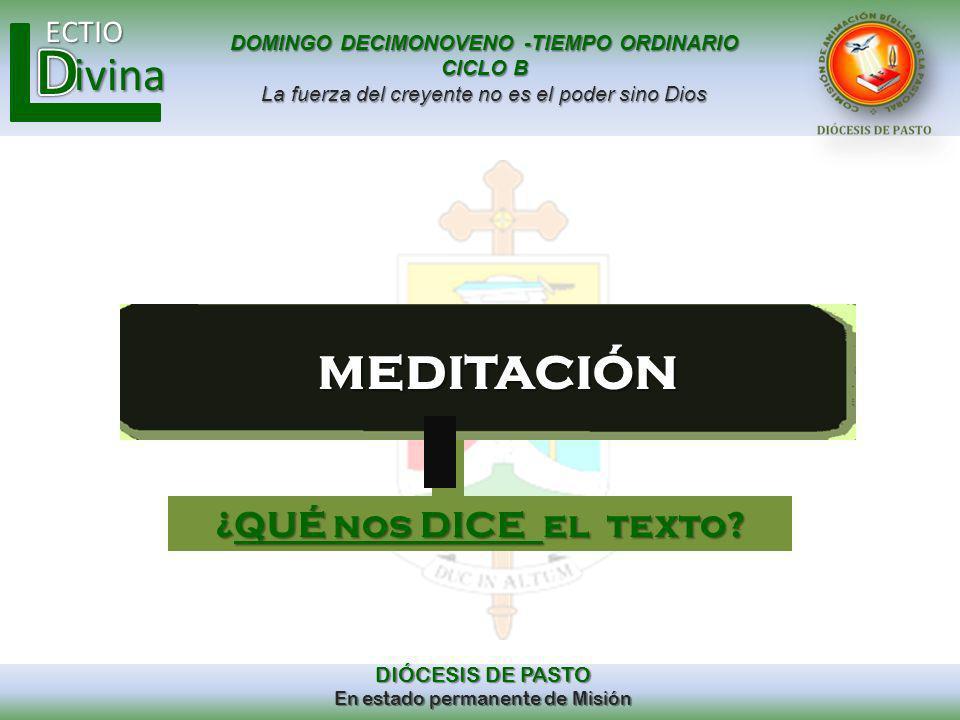 meditación ¿QUÉ nos DICE el texto