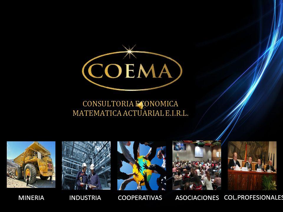 CONSULTORIA ECONOMICA MATEMATICA ACTUARIAL E.I.R.L.