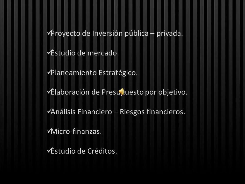Proyecto de Inversión pública – privada.