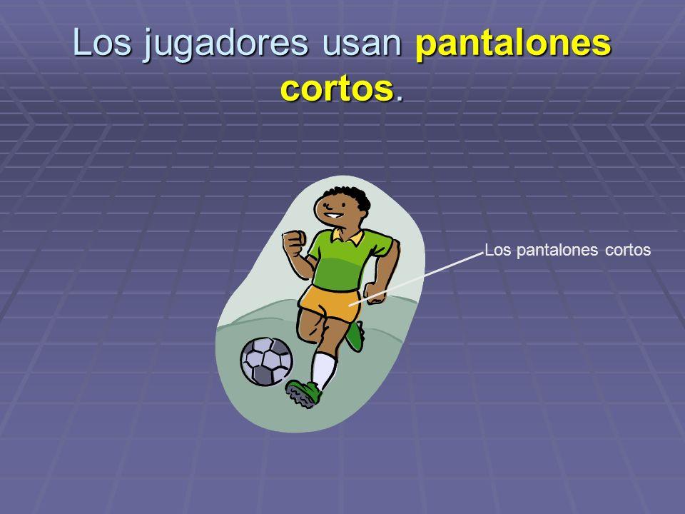 Los jugadores usan pantalones cortos.
