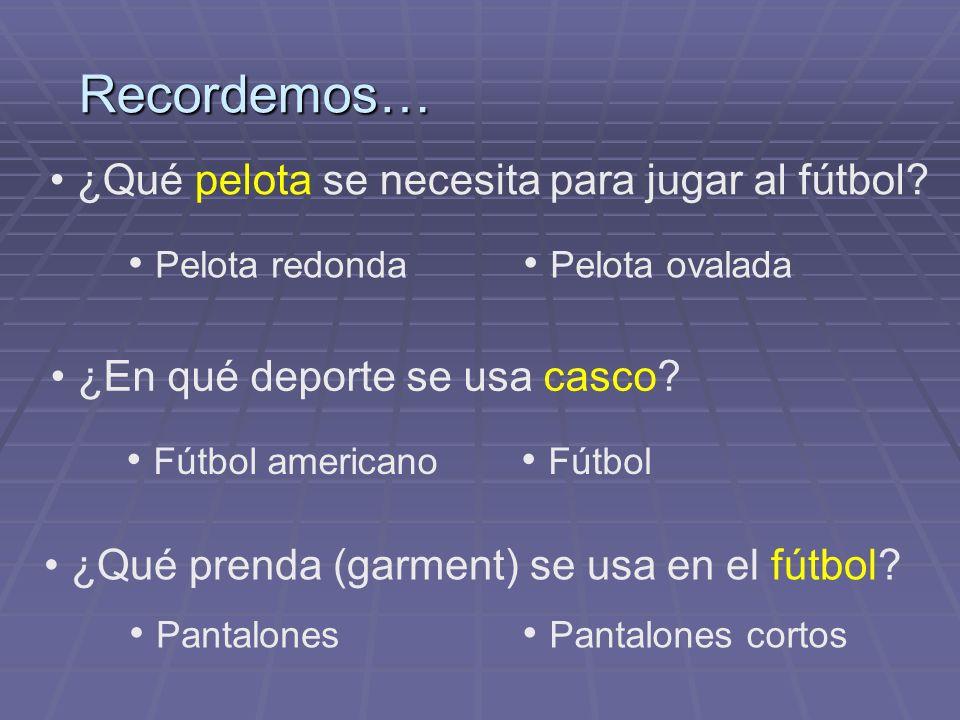 Recordemos… ¿Qué pelota se necesita para jugar al fútbol