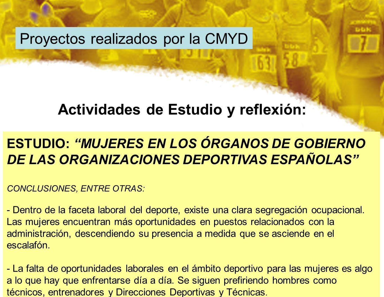 Proyectos realizados por la CMYD