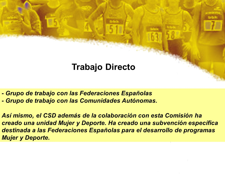 Trabajo Directo - Grupo de trabajo con las Federaciones Españolas