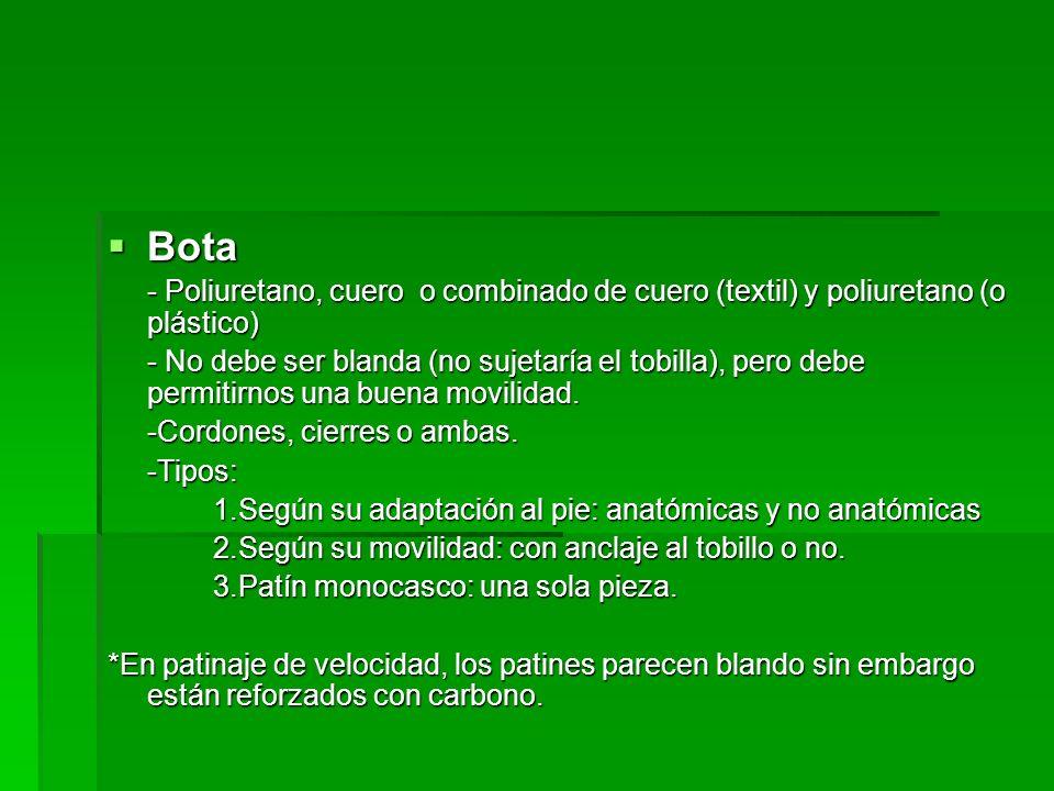 Bota - Poliuretano, cuero o combinado de cuero (textil) y poliuretano (o plástico)