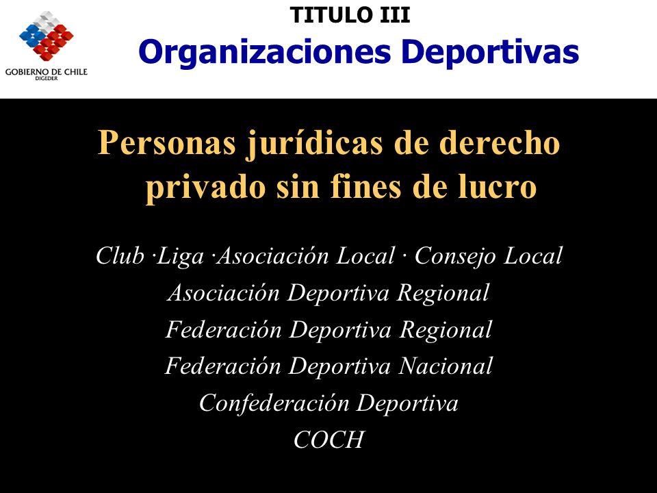 Personas jurídicas de derecho privado sin fines de lucro