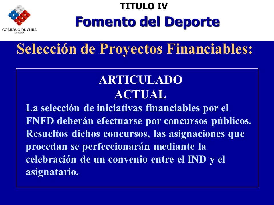 Selección de Proyectos Financiables: