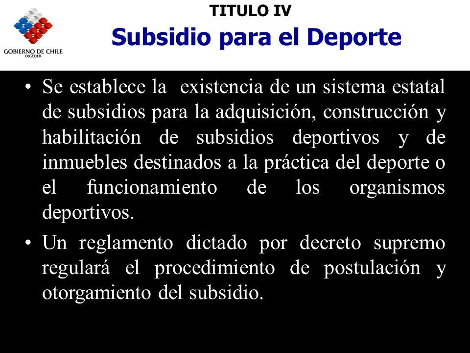 Subsidio para el Deporte