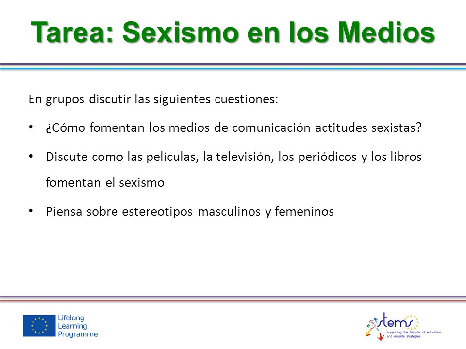 Tarea: Sexismo en los Medios