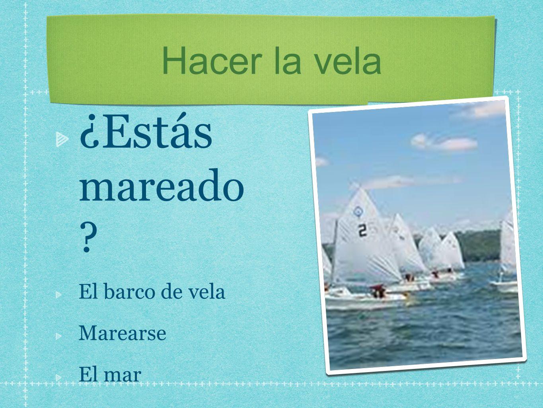 Hacer la vela ¿Estás mareado El barco de vela Marearse El mar