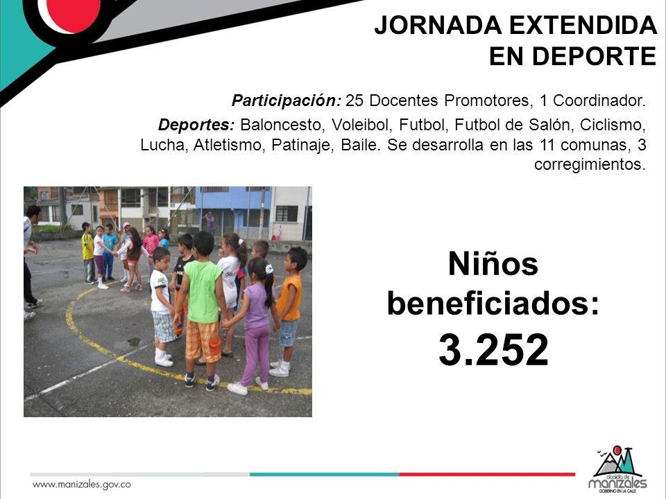 JORNADA EXTENDIDA EN DEPORTE