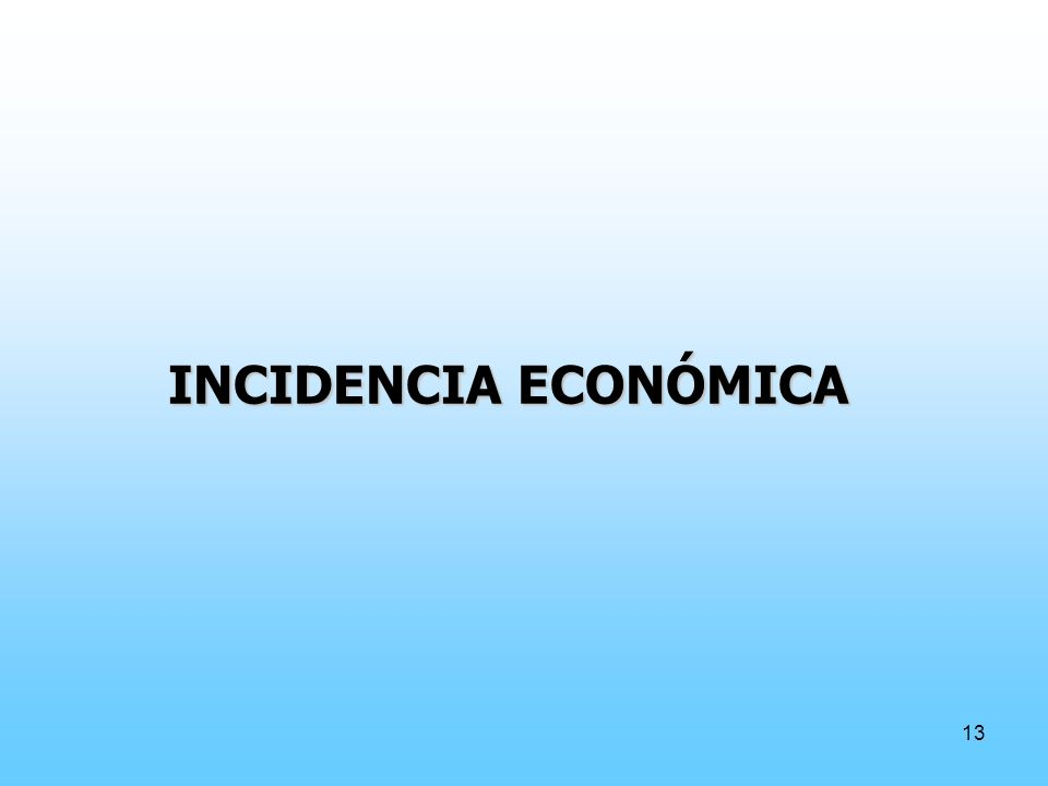 INCIDENCIA ECONÓMICA