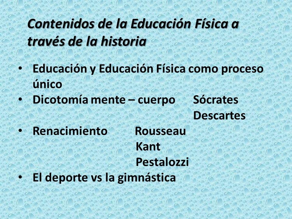 Contenidos de la Educación Física a través de la historia
