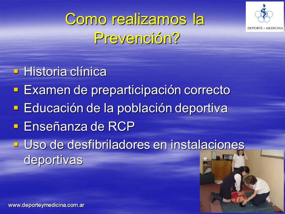 Como realizamos la Prevención
