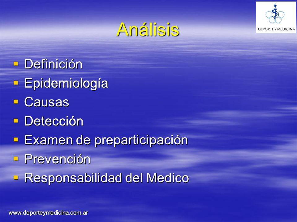 Análisis Definición Epidemiología Causas Detección
