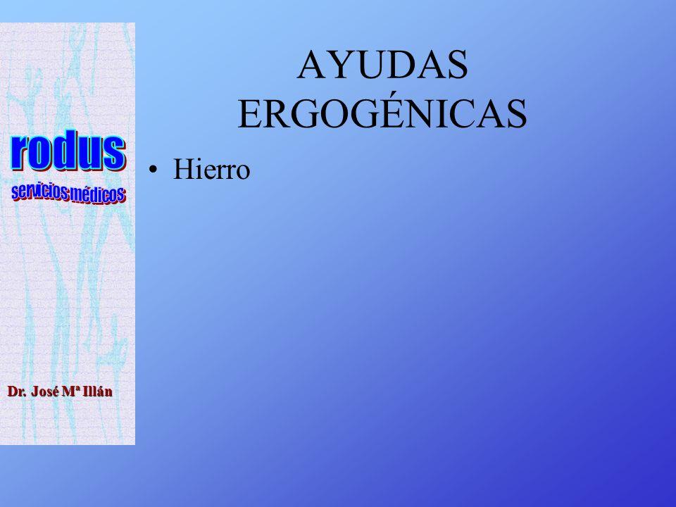 AYUDAS ERGOGÉNICAS Hierro