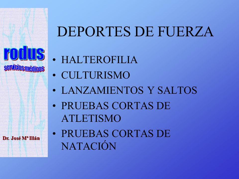 DEPORTES DE FUERZA HALTEROFILIA CULTURISMO LANZAMIENTOS Y SALTOS