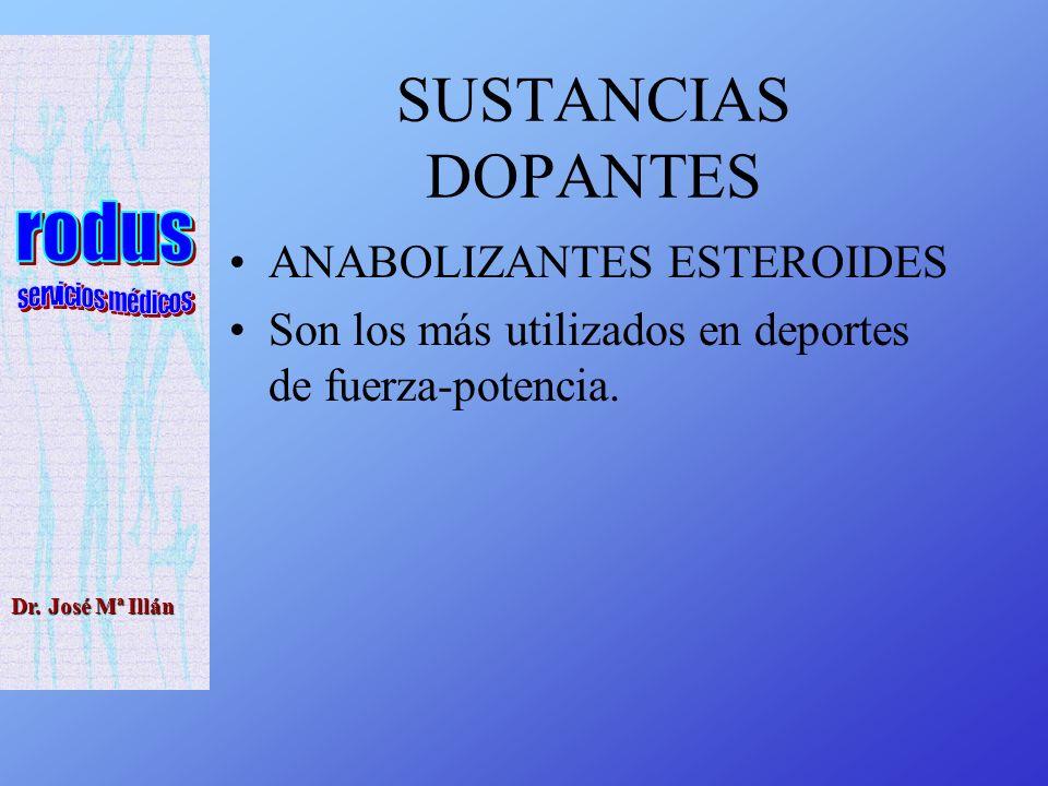 SUSTANCIAS DOPANTES ANABOLIZANTES ESTEROIDES
