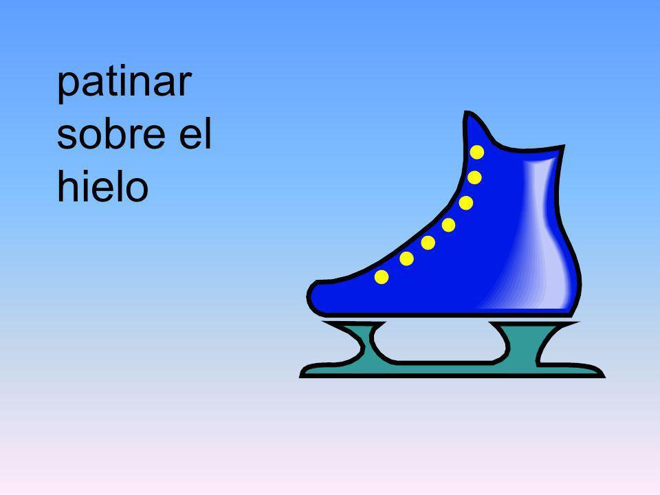 patinar sobre el hielo