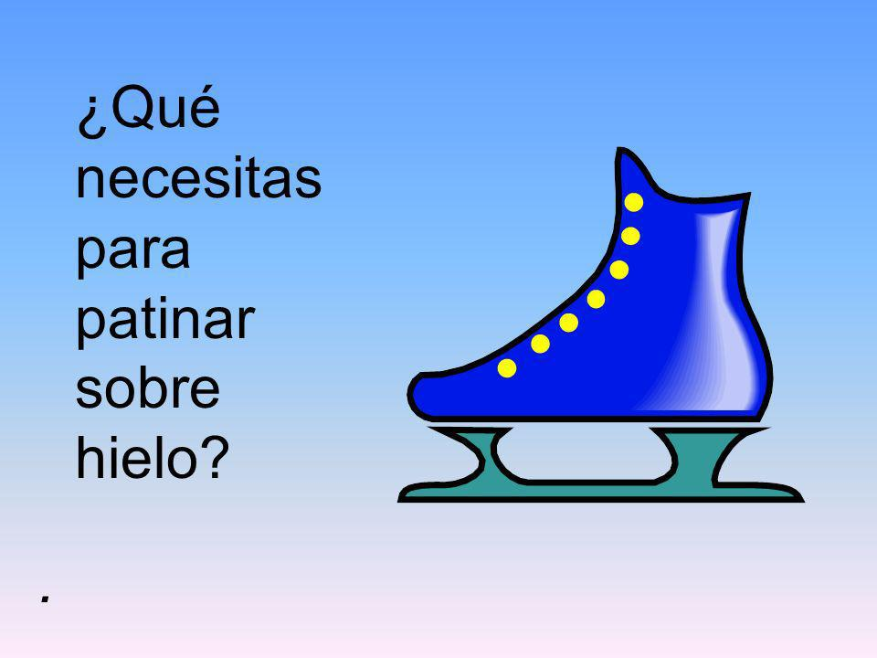 ¿Qué necesitas para patinar sobre hielo