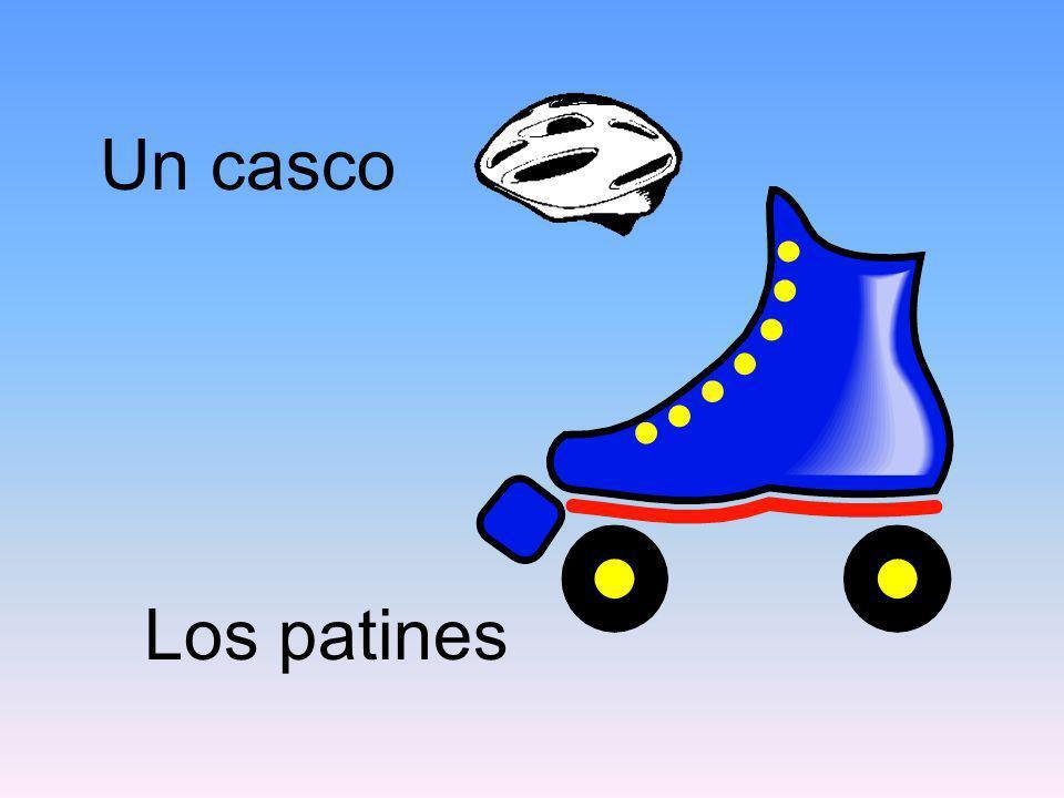 Un casco Los patines