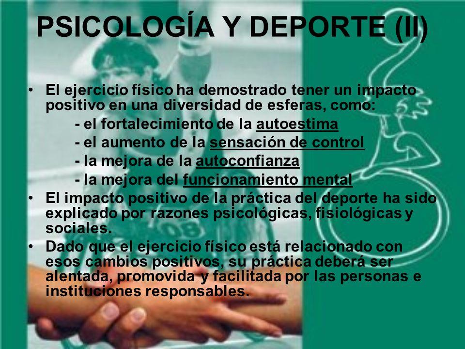 PSICOLOGÍA Y DEPORTE (II)
