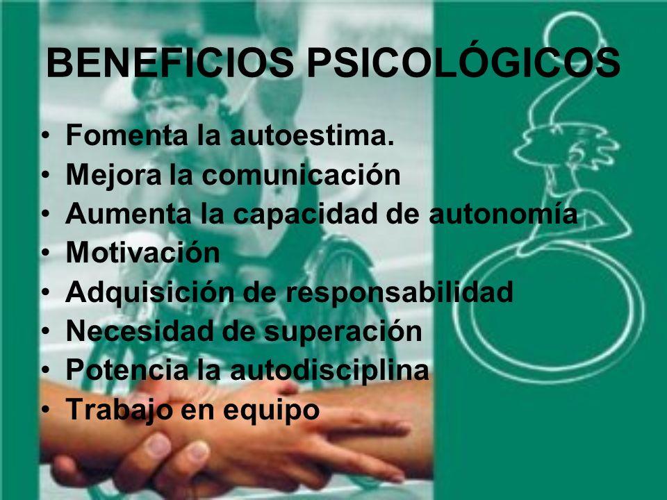 BENEFICIOS PSICOLÓGICOS